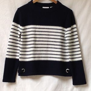 LIZ CLAIBORNE Nautical Pullover Knit Sweater